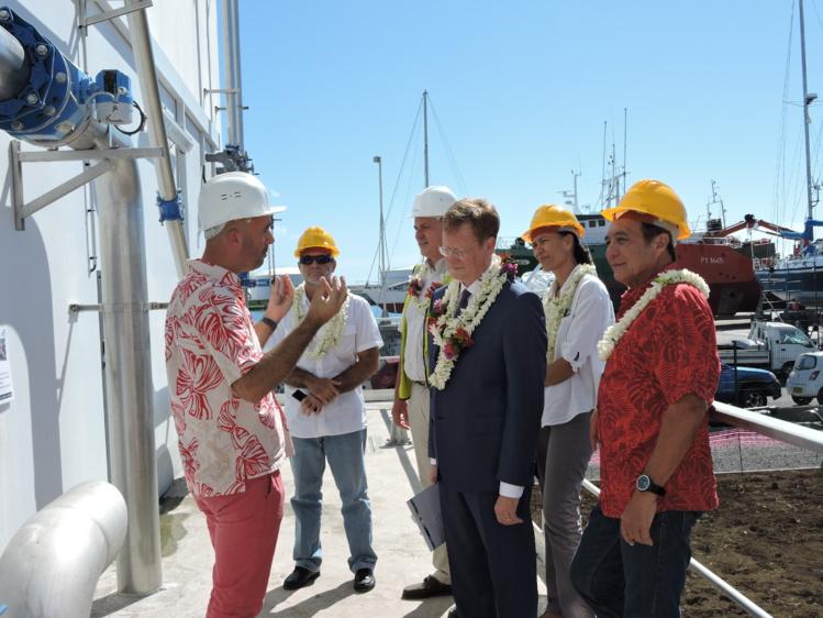 Le haut-commissaire a visité la station d'épuration ce mardi matin.