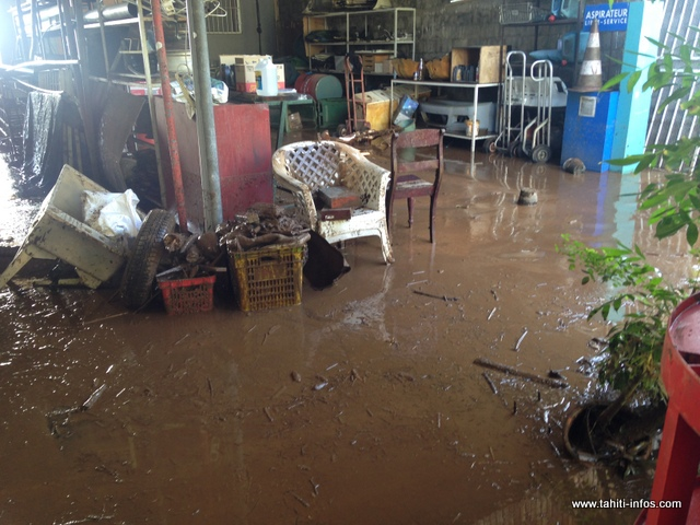 Il y avait de la boue partout