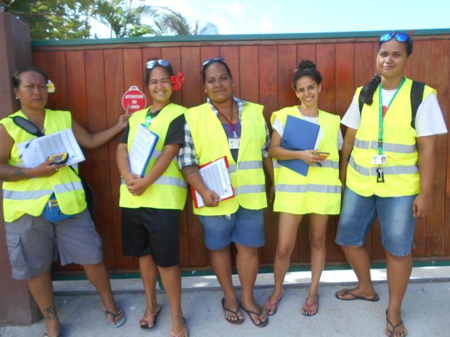 Cinq femmes sont chargées de faire le recensement