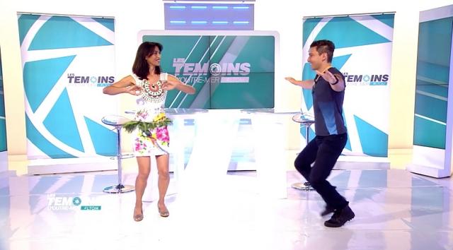 Ken Carlter fait danser les présentateurs télé parisiens