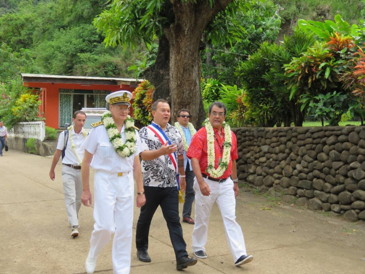 Le discours prononcé par le haut-commissaire Bidal à Tahuata (Marquises)