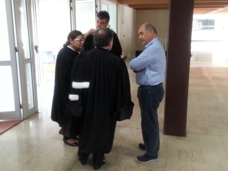 Hubert Haddad, cet après-midi au palais de justice de Papeete.