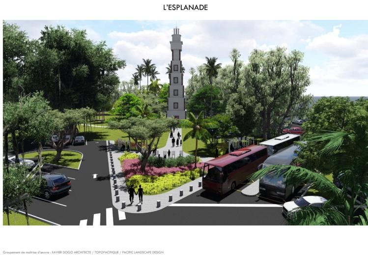 L'esplanade de la pointe Vénus, dans le projet d'aménagement présenté mercredi par Jean-Christophe Bouissou.