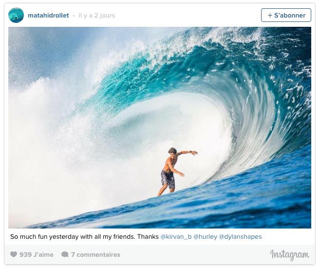 Surf- Teahupoo en vedette dans l'Equipe
