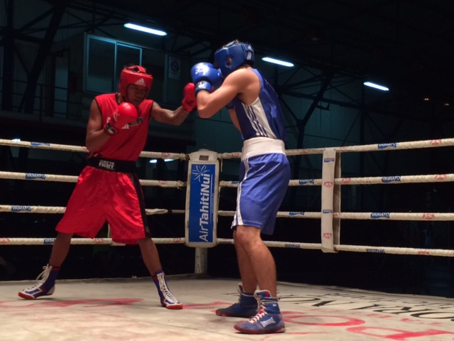 Belle opposition entre Teahu Faufau de Central Olympic et Heiarii Mai du Warrior BC.