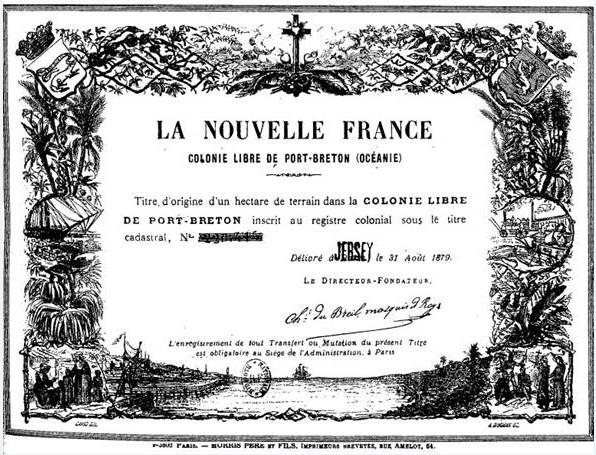 Ces bons de propriété (un hectare) ont rapporté une fortune au marquis. Il les vendait d'abord 5 Francs, puis 10, puis 20 … Il aurait récolté environ 9 millions de Francs de l'époque.