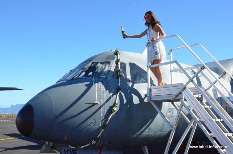 La cérémonie s'est déroulée en présence Miss Tahiti 2016 et de ses dauphines.