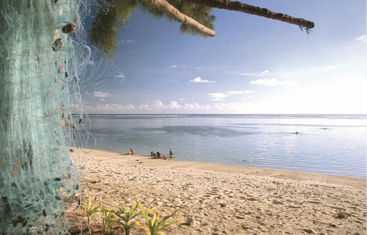 """La superbe plage surnommée """"Popa'a Beach""""."""