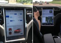 """La """"Model S"""" de Tesla, pionnière de la conduite autonome"""