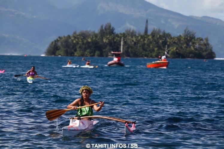 Un plan d'eau magnifique avec Tahiti Iti en arrière plan