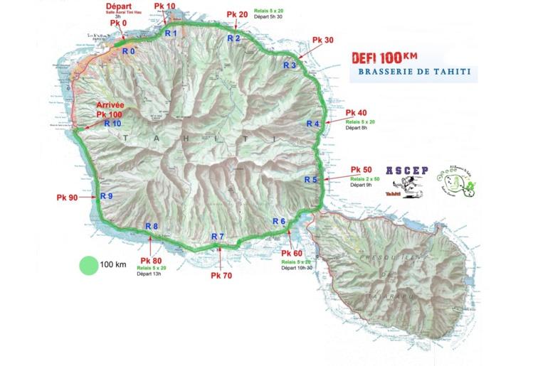 Le parcours du défi 100 KM