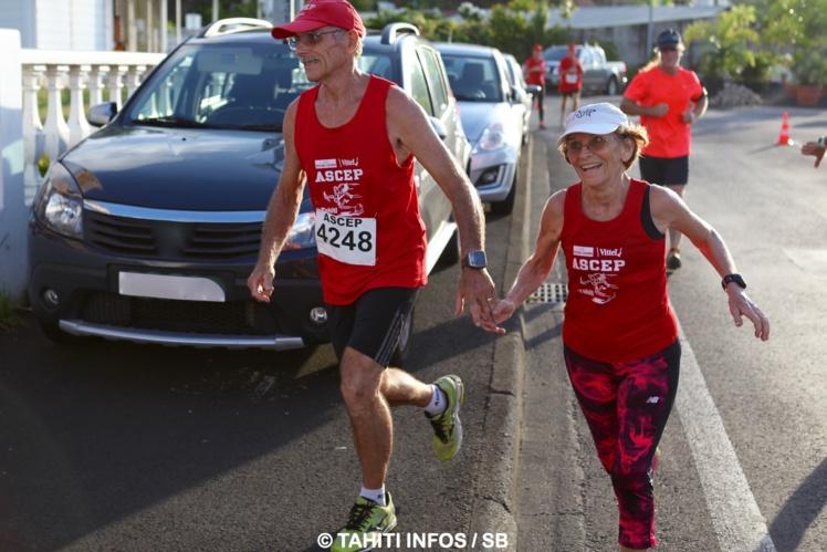 Evelyne et Guy Ramond lors de la course de la Saint Valentin 2016
