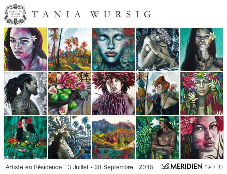 Tania Würsig en résidence d'artiste au Méridien Tahiti