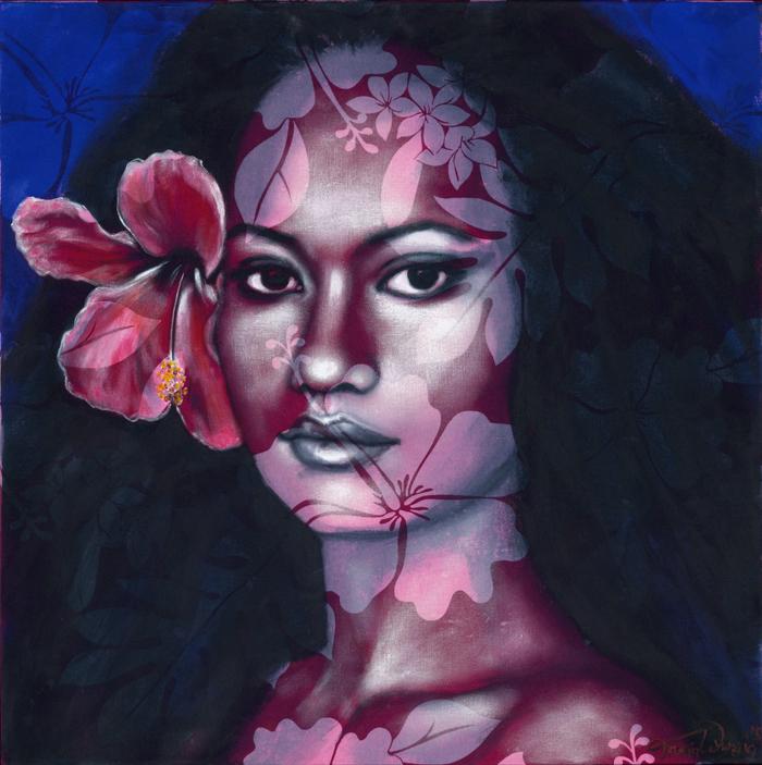 Les œuvres de l'artiste sont le reflet de ses rencontres avec les populations du Pacifique.
