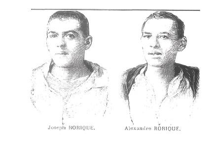 Le seul portrait des frères Eugène et Léonce Degrave, alias Joseph et Alexandre Rorique, dont nous disposons.
