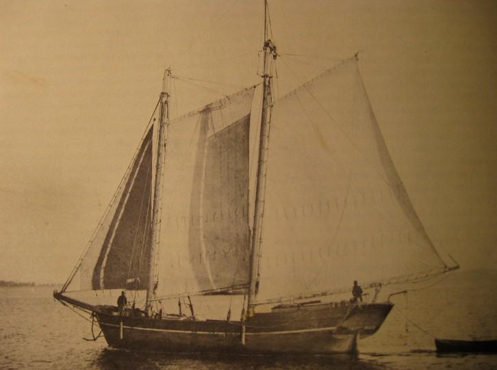 La goélette Niuroahiti était un petit bâtiment de ce type, jaugeant 50 tonneaux.