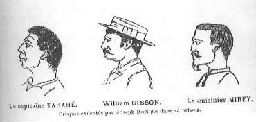 En prison, Josèphe Rorique dessina le portrait du capitaine Tehahe, de William Gibson et du cuisinier Mirey.
