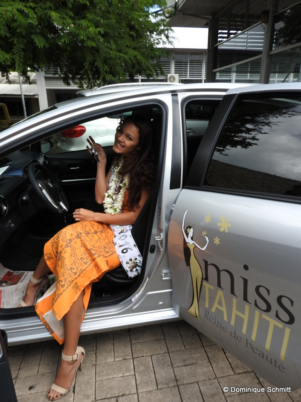 Miss Tahiti 2016 roulera avec ce véhicule doté de la technologie hybride.