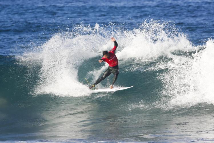 Michel Bourez a très bien surfé en Afrique du Sud