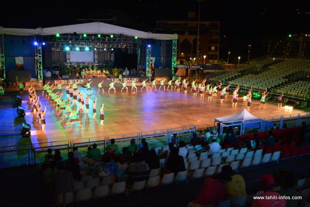 Erai te toa nō Avera, un groupe de danse de l'île de Rurutu, se présentait pour la première fois ce lundi devant le jury à To'ata.