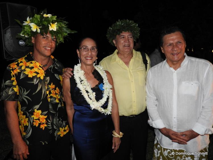 La grande dame du 'ori tahiti a été chaleureusement félicitée.