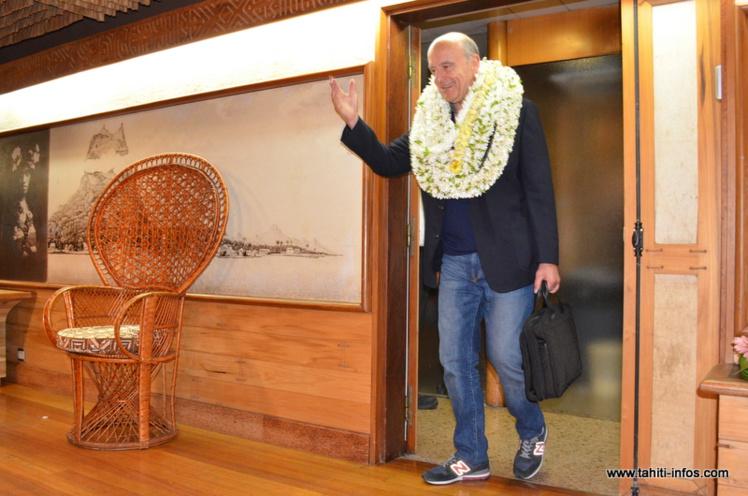 Le candidat à la candidature pour les présidentielles de 2017 a débuté samedi soir une visite officielle de quatre jours en Polynésie française.