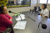 Valentina Cross et Nuihau Laurey, le 26 avril dernier lors du débat radiophonique sur le plateau de l'émission A vous la parole de Radio 1.