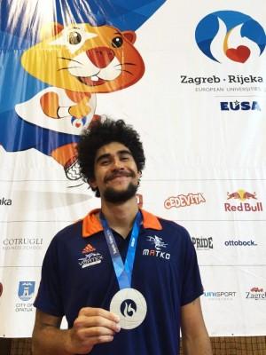 Taekwondo : Waldeck Defaix médaillé d'argent aux Jeux Européens Universitaires