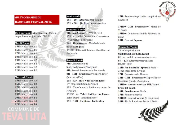 A ne pas rater – Michel Bourez : La sixième édition du Rautirare Festival à Mataiea