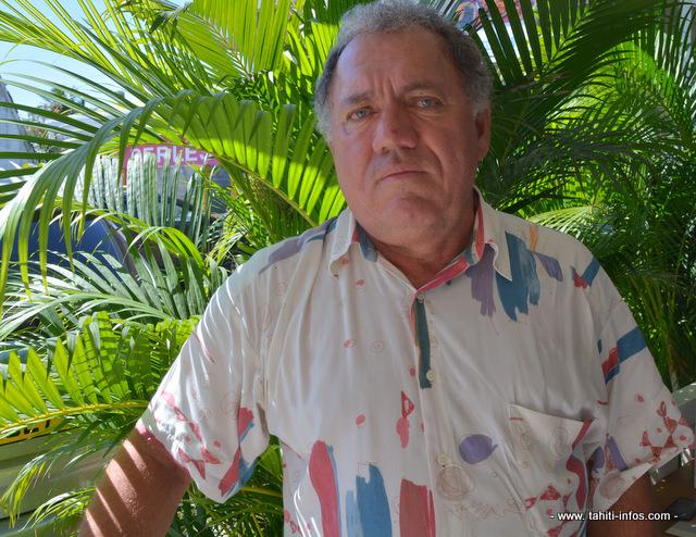 Yannick Lowgreen, le président de l'association Tamarii Moruroa
