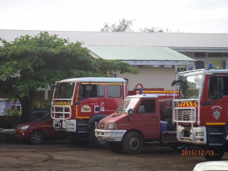 En décembre lors des fortes intempéries qui ont touché de nombreux foyers de la côte Est, les pompiers des autres casernes de Tahiti étaient venus aider leurs collègues de Hitia'a o te Ra.