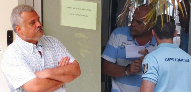 Clarenntz Vernaudon et Thierry Pageau, les deux têtes d'affiche de l'affaire Pageau.