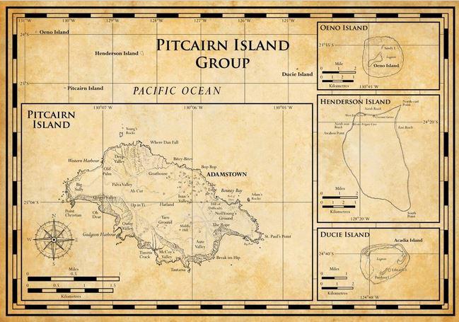 Le nom polynésien de Pitcairn était Hiti Au Revareva. Avant l'installation des mutinés de la HMS Bounty, l'île avait été peuplée par des Polynésiens qui l'avaient, par la suite, abandonnée.