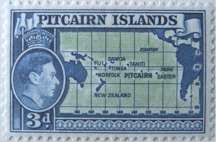 This stamp is Pitcairn Island in the central Pacific.