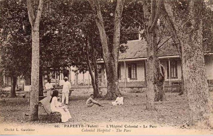 Parc Gauthier de l'hôpital colonial Vaiami