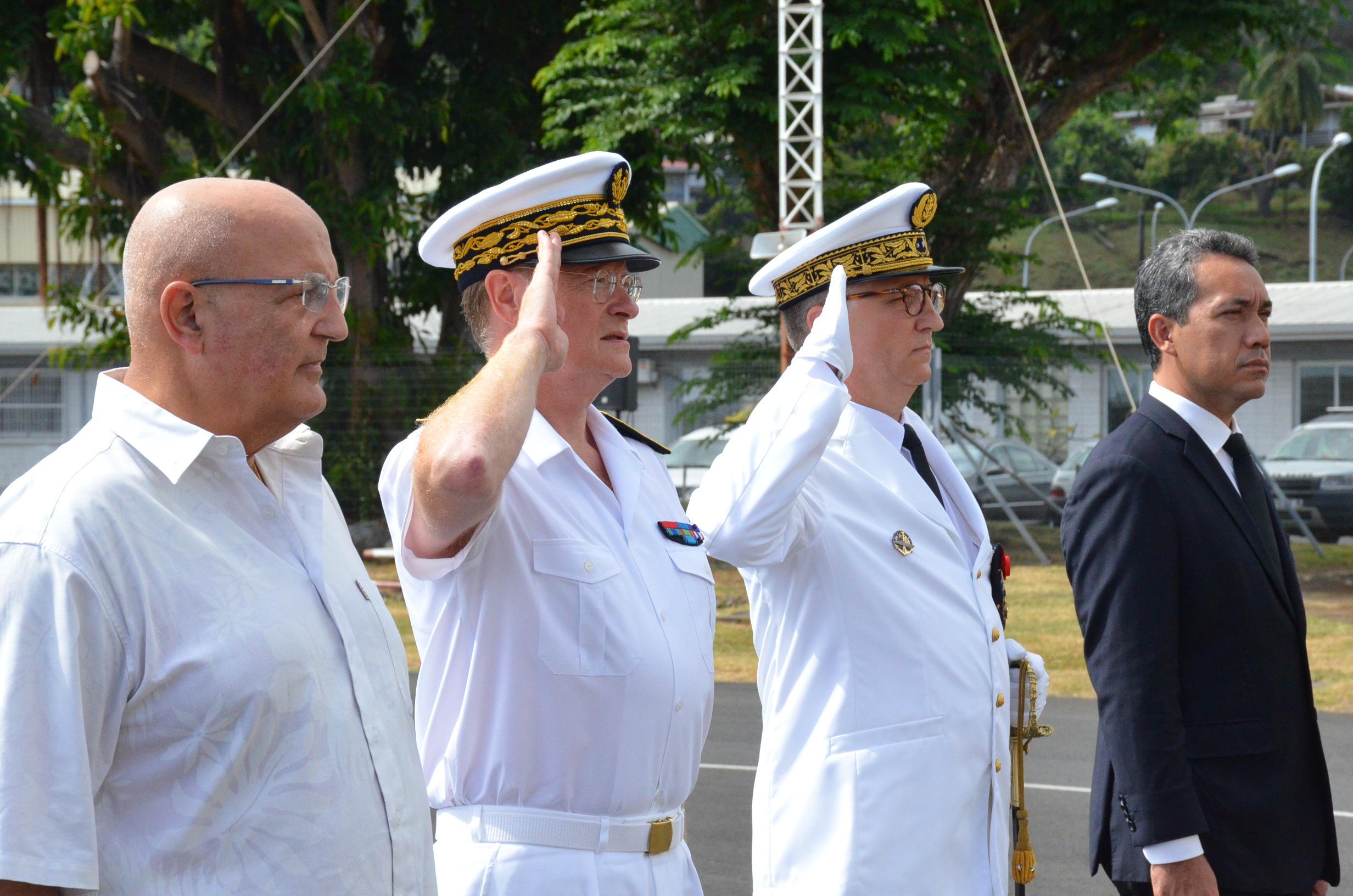 """Le contre-amiral Bertrand """"revient"""" au Pays"""