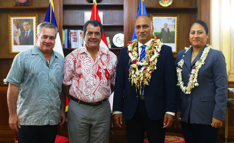 Assemblée territoriale de Wallis et Futuna : Mikaele Kulimoetoke a rencontré Edouard Fritch