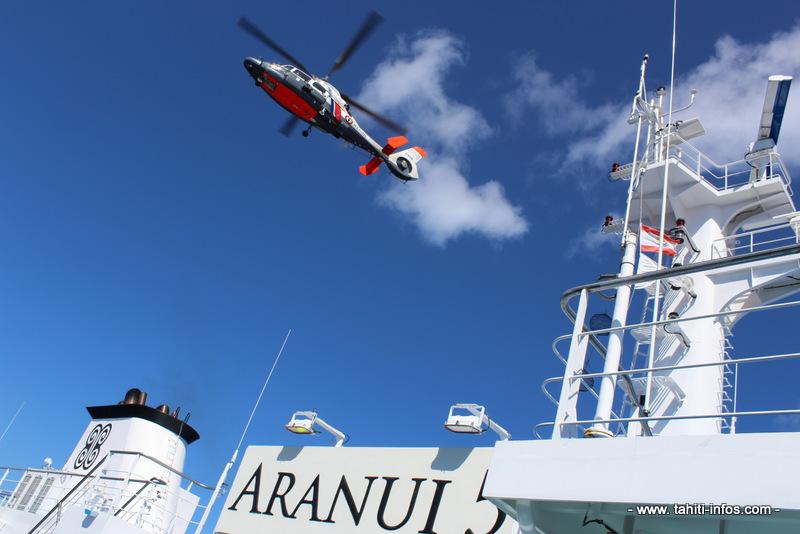 Aranui 5 : une (fausse) panne avec 40 personnes à bord