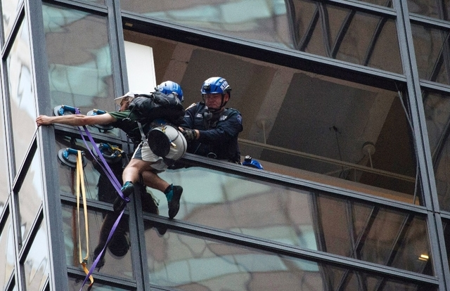 Un homme escaladant la tour Trump arrêté à New York