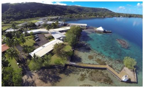 Le centre Ifremer du Pacifique, à Tahiti (Vairao, Taiarapu ouest - Crédit photo : Ifremer)