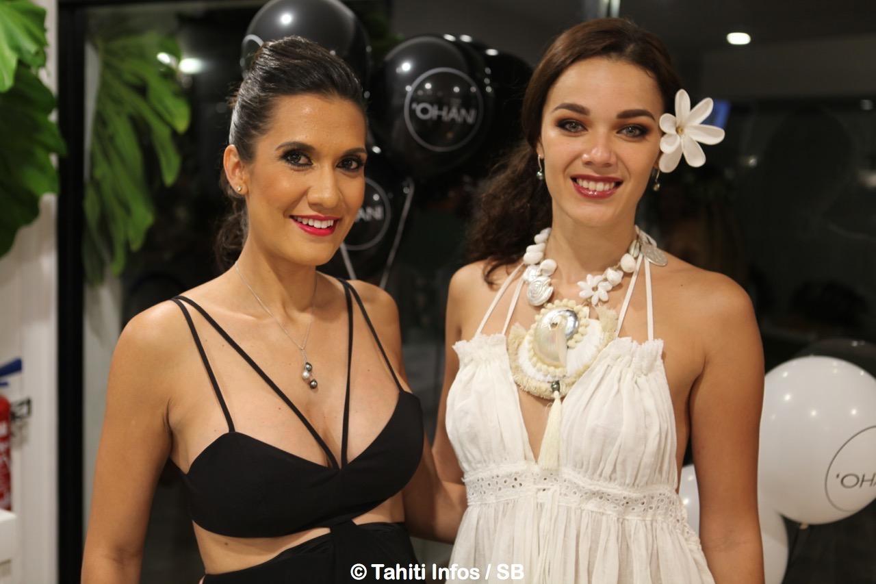 Vaimiti avec Vaea Ferrand, Miss Tahiti 2016