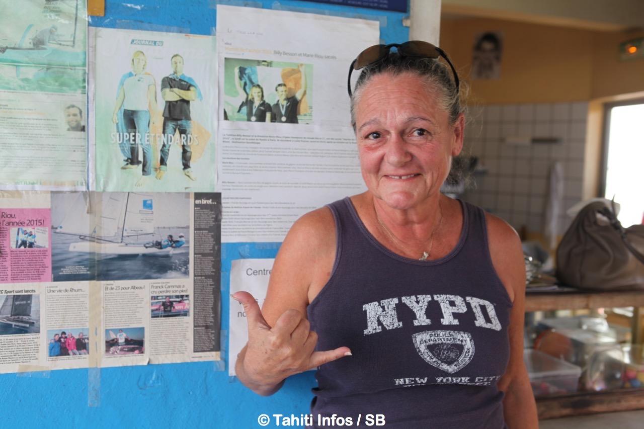Leina Caspar, la mère de Billy Besson au Yacht Club d'Arue