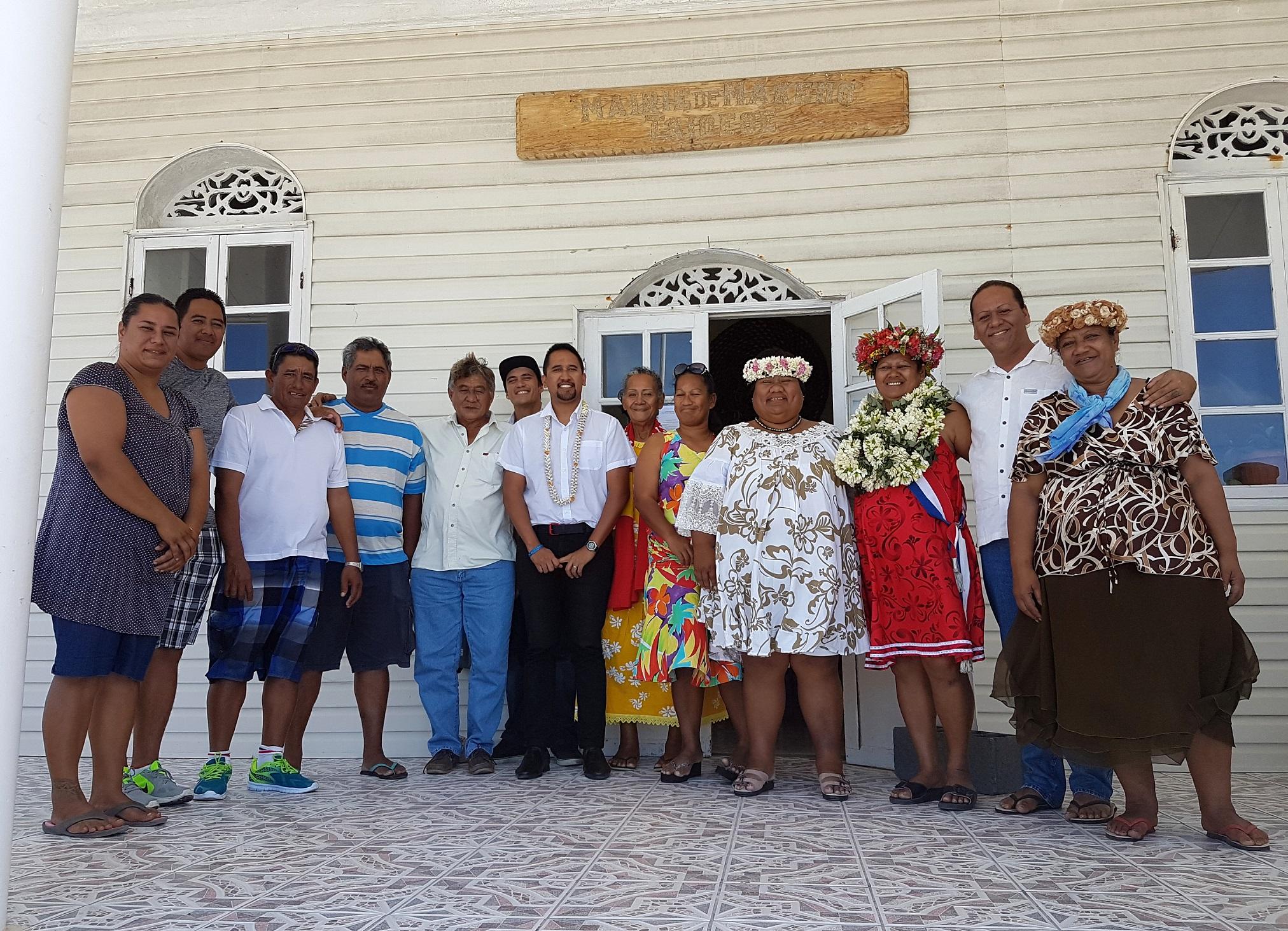 Le conseil municipal de la commune de Makemo.