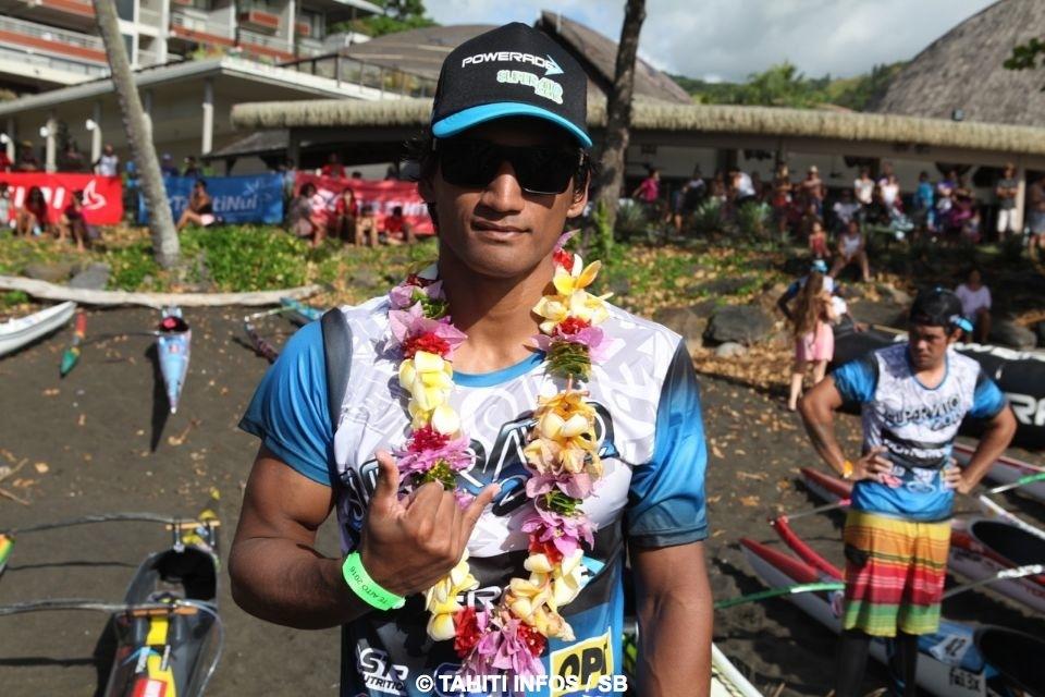 Le rameur de Tautira Tutearii Hoatua a remporté le Super Aito 2016