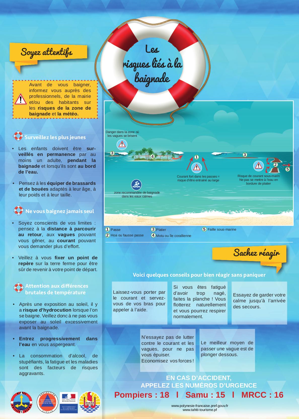 Attention aux dangers de la baignade en mer