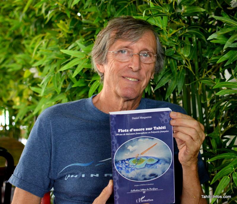 Daniel Margueron et son livre Flot d'encre sur Tahiti