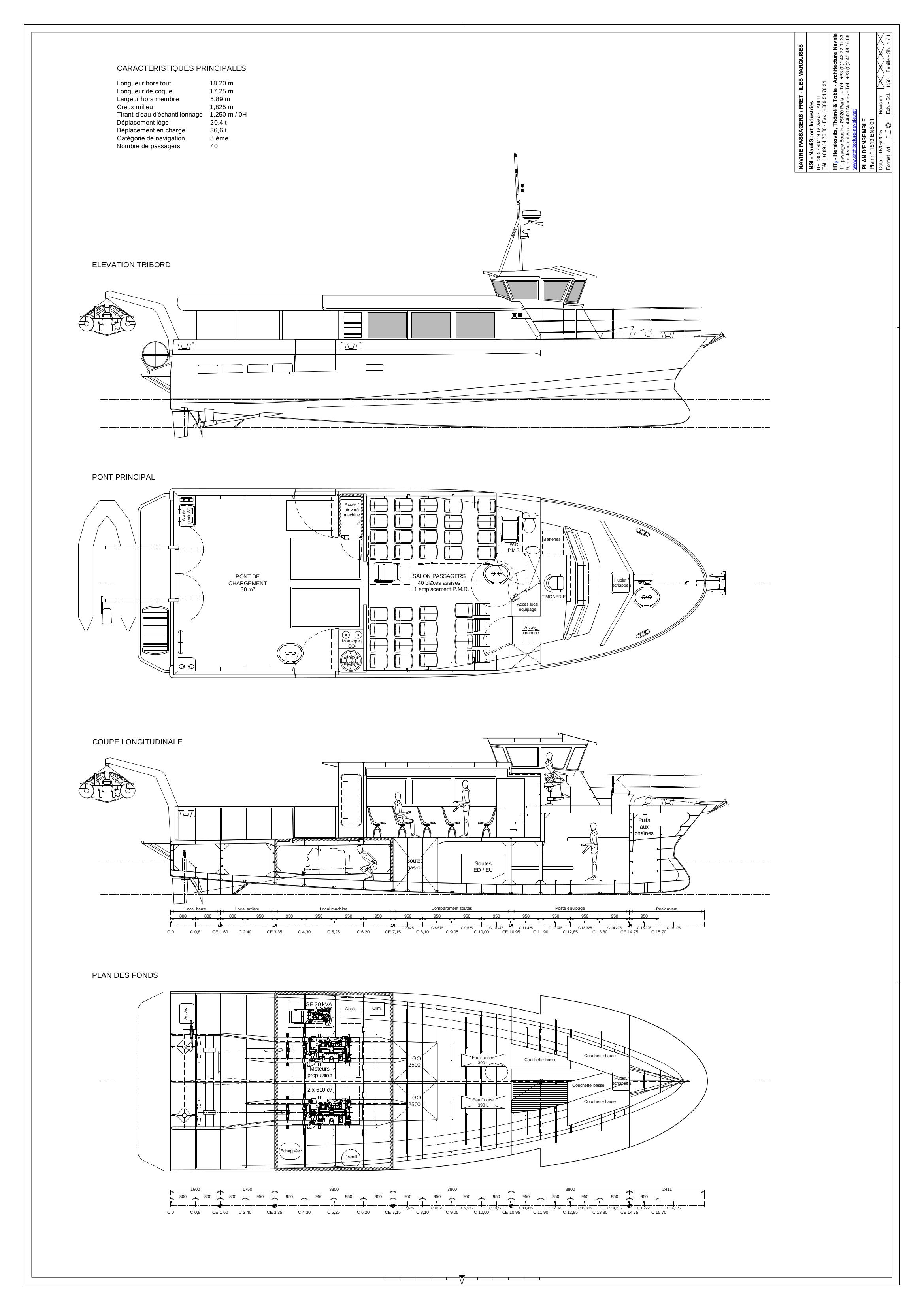 Plan d'ensemble de la navette