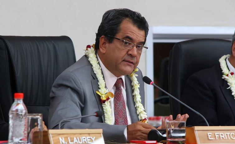 Edouard Fritch à la Conférence des dirigeants des îles du Pacifique