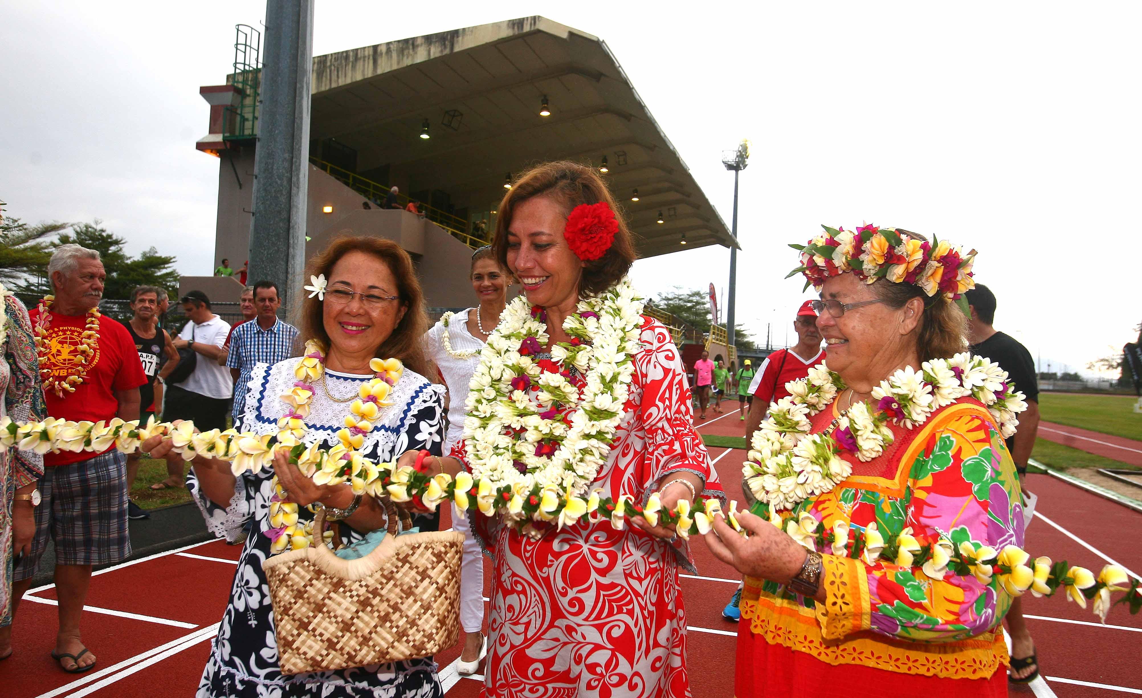 La nouvelle piste d'athlétisme de la Punaruu inaugurée
