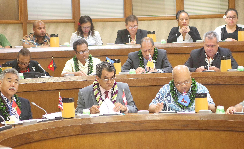 La voix de la Polynésie française à la Conférence des dirigeants des îles du Pacifique